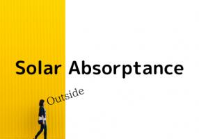 [TRNSYS]室外側の日射吸収率を変える